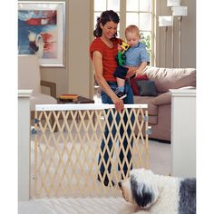 North States Expandable Swing Gate | Might actually fit across narrow laundry room doorway (keeping Mini-Hartwell away from cat's litter box)