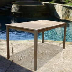 Vifah V1297 Renaissance Outdoor Hand-Scraped Hardwood Rectangular Table | ATG Stores