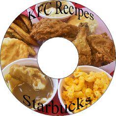 20 Home Made Kentucky Fried Chicken KFC & Starbucks Coffee Recipes CD