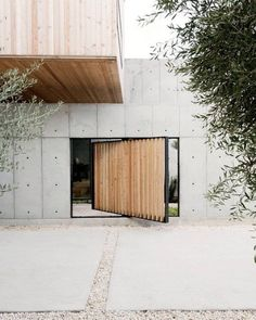 Olive trees Concrete inspired by the work of Architect Tadao Ando // image via Dwell. by concretegeometric