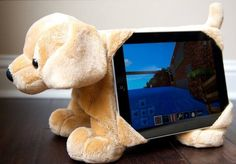 Tabbeez is the latest innovation in stuffed animals -  a stuffed animal tablet holder. A tablet stand, lap pillow and cuddly friend. Holds most 8 and 10 inch tablets including all iPads, Samsung Galaxy and kindle fire hd. Www.tabbeez.com