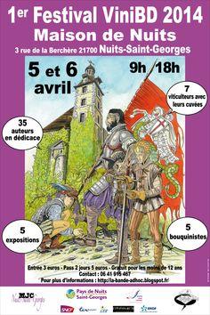 Festival ViniBD. Du 5 au 6 avril 2014 à nuits-saint-georges.
