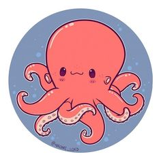 Octopus!! ✨✨ I love octopuses to much  like how insane are they?! they're super smart and squishy and colourful and slightly creepy, they're awesome ✨✨ #octopus #octopusart #cute #kawaii #chibi #instaart #instadaily #instaartist #illustration #illustrationoftheday #digitalart #digitalpainting #doodle #art #drawing