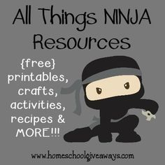 What boy doesn't want to be a Ninja at some point? Here are some fun resources for learning, crafts, sensory activities & MORE!! :: www.homeschoolgiveaways.com