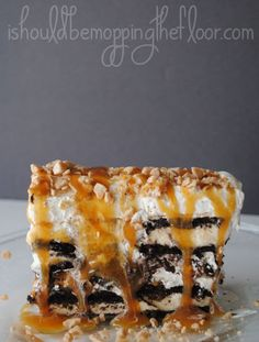 Ten Minute Layered Ice Cream Cake: this quick, yet impressive dessert goes together in a flash and tastes fantastic!