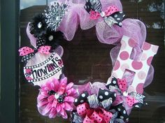 this would be really cute for a wreath for new baby or a girls room as well