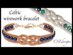 Beaded celtic wirework bracelet - YouTube