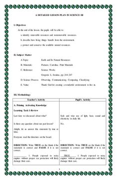 Detailed lesson plan in Science 3 Weng Gamaya Grade 1 Lesson Plan, Lesson Plan Pdf, Lesson Plan Examples, English Lesson Plans, Daily Lesson Plan, Science Lesson Plans, Teacher Lesson Plans, Lesson Plan Templates, Science Lessons