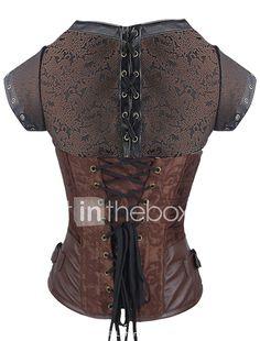 0eefbe4ae51e3   28.99  Women s Cotton Lace Up Underbust Corset - Jacquard