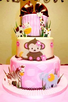 number one cake with a little monkey like this on it?