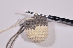 Crochet spirale – Changement de couleurs – Base – Julypouce tricote