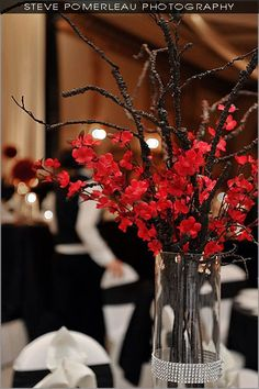 Another example of a Cherry Blossomm wedding that isn't pink - Chinese Cherry Blossom Branches
