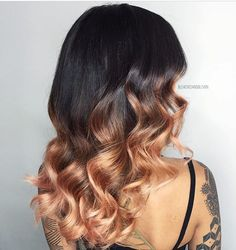 🍑 Peachy Keen 🍑 balayage by @bleachedandblown #hairtrend #hotonbeauty . . . . #peachhair #balayage #ombre #balayagehighlights #balayageombre #brunette #brunettes #falltrends #falltrends2016 #fallhaircolor #hairpainting
