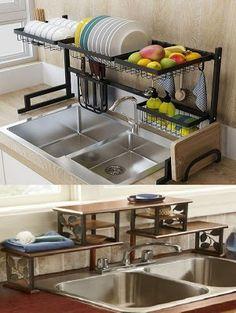 15 kitchen sink rack ideas مطبخ منزل