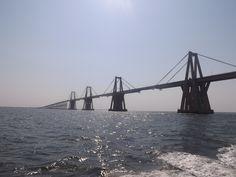 El Lago de Maracaibo y el Puente General Rafael Urdaneta Mcbo. Edo Zulia  Febrero 2017