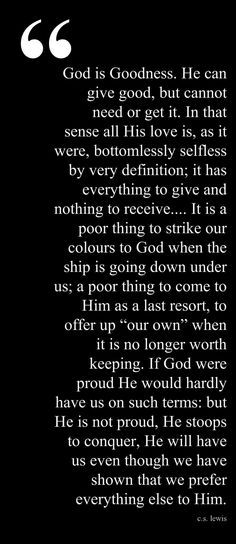 from The Problem of Pain, C.S. Lewis