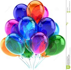 Balloons Party Happy Birthday Decoration Colorful - Download From Over 57 Million High Quality Stock Photos, Images, Vectors. Sign up for FREE today. Image: 27553314