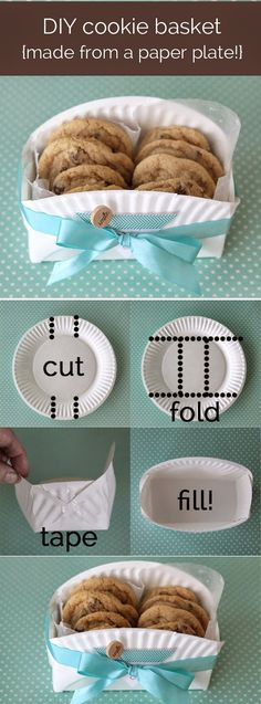 Handmade gift ideas for christmas DIY Cookie Basket Made from a Paper Plate 40 DIY Gift Basket Ideas for Christmas Handmade Gift Ideas for Christmas Christmas Baskets, Diy Christmas Gifts, Handmade Christmas, Christmas Ideas, Cookie Baskets, Diy Gift Baskets, Gift Basket Ideas, 40 Diy Gifts, Homemade Gifts
