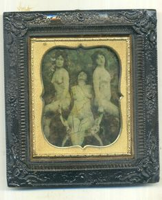 UNUSUAL 1/6 plate AMBROTYPE gutha percha framed .1850s-1860s erotica