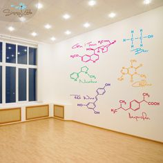 Enjoy this set of Party Molecules. Perfect for a game room or a dorm room. You will receive 6 different molecule types, each in your color choice. Science Bedroom, Science Party, Tap Room, Co Working, Office Walls, Classroom Decor, Science Classroom, Vinyl Wall Decals, Decoration
