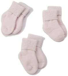 Tic Tac Toe Unisex-baby Newborn Organic Cushion Bootie 3 Pair Pack Socks