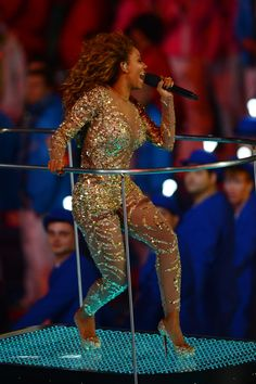 Melanie Brown at the Olympic Closing Ceremony