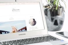 Free premade feminine blogger template