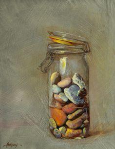 "(Still Life) Seth Haverkamp,""Still Life"",S.D, Razão: Diversidade de cores/tamanhos entre as pedras"