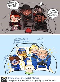 Uprising vs retribution, blackwatch overwatch moira's face lol Overwatch Funny Comic, Overwatch Memes, Overwatch Fan Art, Video Games Funny, Funny Games, Gamer Humor, Paladin, My Guy, Pokemon