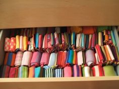 I guess this is what a sock drawer should look like. Mine is not this colorful.