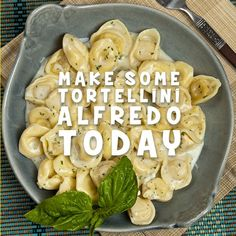 It's #NationalTortelliniDay today! This means that you should make this delicious pasta today. Here's a recipe for the tortellini alfredo: http://bit.ly/2jdKcIn