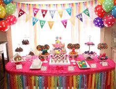 "candy land / rainbow  / Birthday ""Cami's Candy Land!"" 