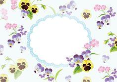 春(スミレ&パンジー)_表紙で使えるフリー背景素材_無料イラスト35464 | 素材Good