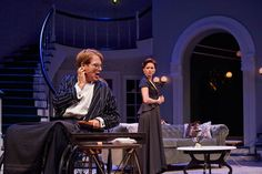 """From left to right: Donald Carrier as Horace Giddens and Maggie Lacey as Regina Giddens in """"The Little Foxes"""" a production a part of Cleveland Play House 2014-2015 season © 2014 Roger Mastroianni"""