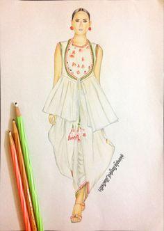Nikasha Fall-Winter 2016 . . . . . . #fashion #fashionillustration #fashionsketch #fashionillustrator #art #sketch #illustration #nikasha #fallwinter #fallwinter16 #aifw #fdci #embroidery #handicraft #indiancraft #amazonindiafashionweek #colorpencils #colorpencilsketch #staedtler #mystaedtler #staedtlermars #followme #followforfollow @nikasha_official @staedtlermars