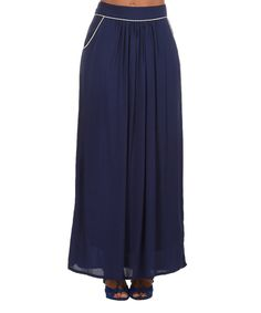 Look what I found on #zulily! Navy Blue Aiko Maxi Skirt by La p'tite étoile #zulilyfinds