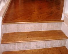 1000 images about ideas for our staircase on pinterest - Stairs with tile and wood ...