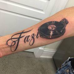 Chronic Ink Tattoo - Toronto Tattoo  Turntable add-on tattoo done by Martin.