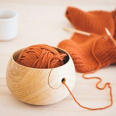 Wood Yarn Bowl More