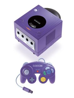 Purple Nintendo GameCube. This was the first GameCube we ever got!! So many memories!!
