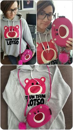 Lotso clutch and hoodie!!