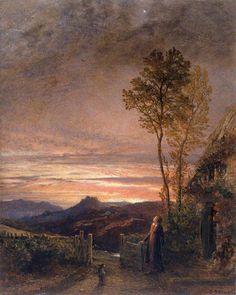 "thorsteinulf: ""Samuel Palmer - The Rising of the Skylark (1839) """