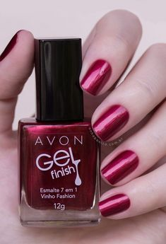 Avon's Gel Finish Nail Polish gives you a high-shine manicure without the UV light. Polish includes seven benefits like shine, protection, and vivid color. Spring Nail Colors, Spring Nails, Avon Nails, Gel Manicures, Gel Nails At Home, Nail Polish Colors, Pretty Nails, Pedicure, You Nailed It