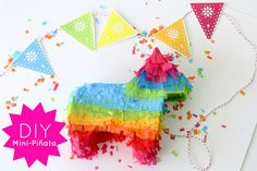 """Mini Piñata Tutorial. These are """"personal"""" sized and would be great for birthday parties to hand to each guest. Then again, they would also be great made into pumpkins for Halloween, or used as a model for a traditional sized item."""