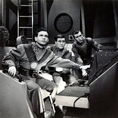 From left: Frankie Thomas, Al Markim and Jack Grimes in 'Tom Corbett, Space Cadet.'