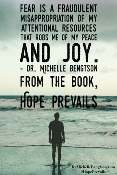 When I worry, I give my attention to my own abilities or lack thereof, rather than focusing my attention on  God's promises - to rescue me, protect me, answer me, be with me in times of trouble, deliver me and satisfy me. Dr. Michelle Bengtson from the book, Hope Prevails: Insights from a Doctor's Personal Journey through Depression. Christian Inspirational Quote.