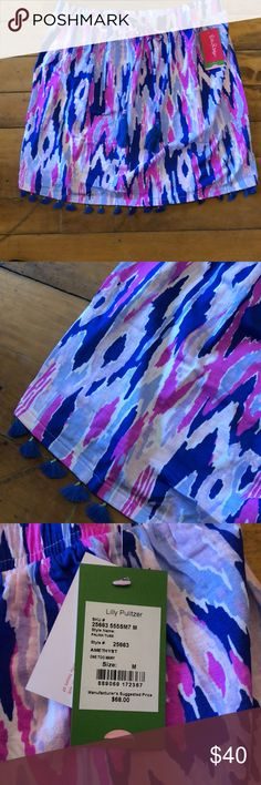 Lilly Pulitzer tube top Brand new!  Tassels Lilly Pulitzer Tops