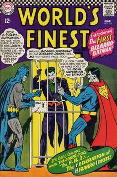 World's Finest Comics #156 - FIrst appearance of Bizarro Batman