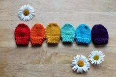 Anna et les Petites Choses ...: Moufles Rainbow {modèle gratuit}