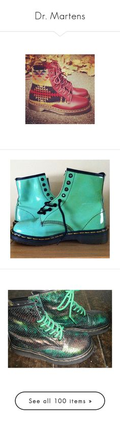 """""""Dr. Martens"""" by oneandonly-britbrat ❤ liked on Polyvore featuring shoes, pictures, boots, pics, fake boots, faux patent leather boots, synthetic boots, dr martens footwear, patent boots and shining boots"""